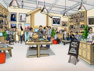 Retail space concept