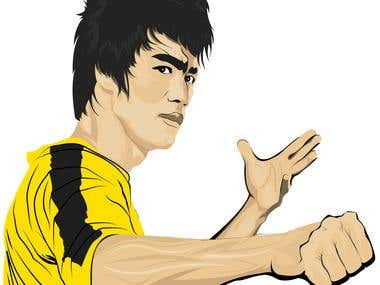 Bruce Lee Illustration Design