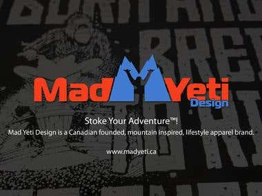 "MAD YETI DESIGN T-SHIRT PROJECT ""Born and Bred"" Sledding Tee"