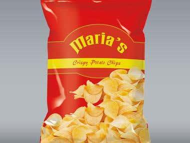 Chips Packet Design - Maria's Crispy Potato Chips