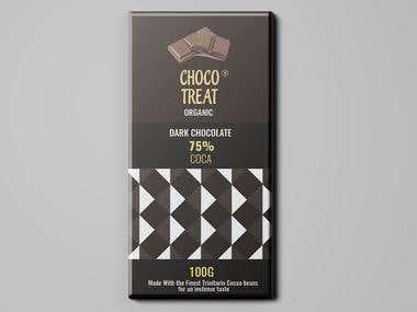 Chocolate Bar Design - Choco Treat Dark Chocolate 100G