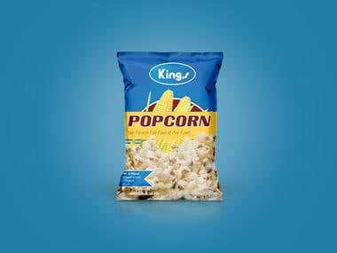 Popcorn Packet Design - Kings Popcorn