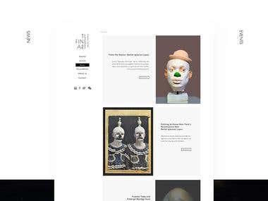 Web design   TL Fine Art
