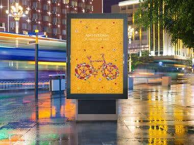 Amsterdam Flower Poster