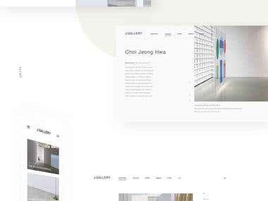 Web & UI design   J:gallery