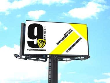 Billboard Design -Political Party United For Macedonia