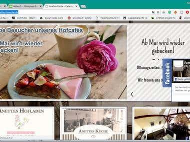 Restaurant Website development