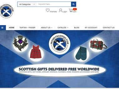 Ecommerce online shopping websie making for UK client