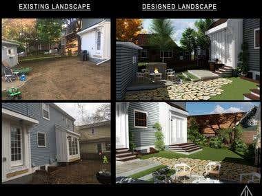 Landscape Design - Backyard design(USA)