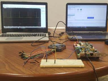 Reading output from FPGA GPIO pins on an Oscilloscope.
