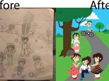 Sketch Design - Before & After