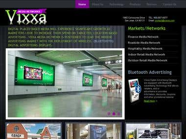 Vixxa Media Website Design