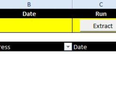 Outlook Mail Extractor in Excel