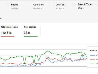 Search Engine Optimization: Webmaster Organic Traffic Graph