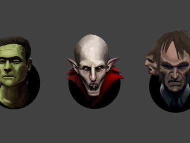 Classic Monsters Sketches