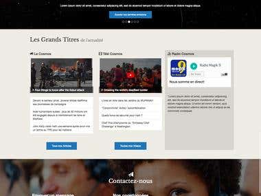 Website Design: Groupe Cosmos