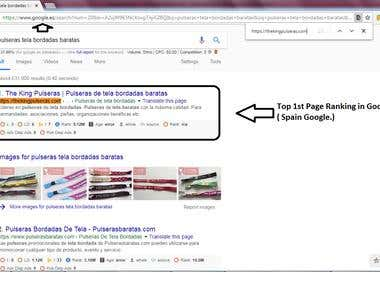 Top 1st Page Ranking Results in Google.es ( Spain Google )