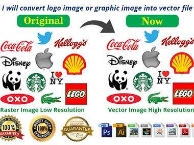 I Will Convert Logo Image Or Graphic Image Into Vector File
