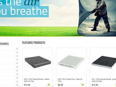 Premier Airfilters Ecommerce Website