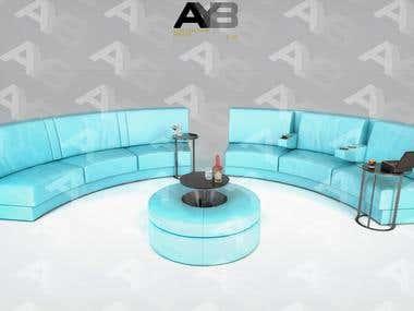 Sofa Design for Cinema room.