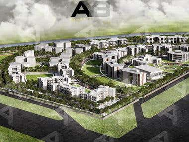 University 3D Visualization - Aereal Rendering by AYB Team.