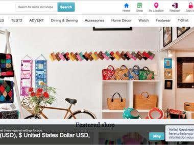 E-commerce Marketplace Software like Amazon, Letgo etc.
