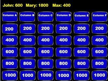VBA Macros (Jeopardy game)