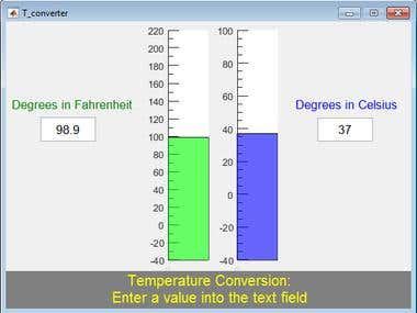Matlab thermometer user interface