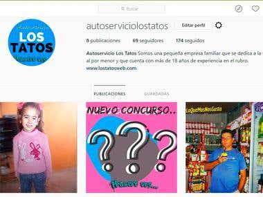 Fan Page de Instagram de mi cliente Autoservicio Los Tatos.