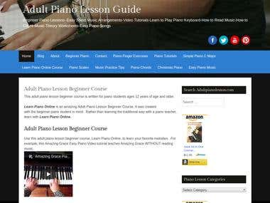 Adult Piano Lesson