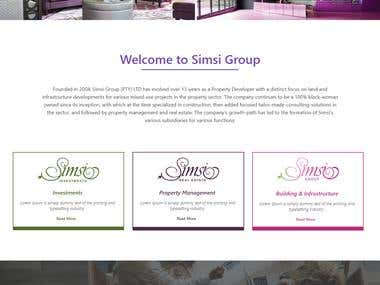 Simsi Group Wordpress website