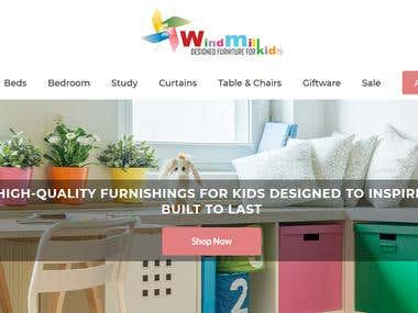 Wind mill kids furniture