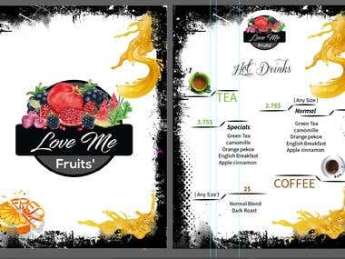 juice menu design