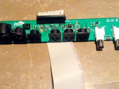 Midi control board