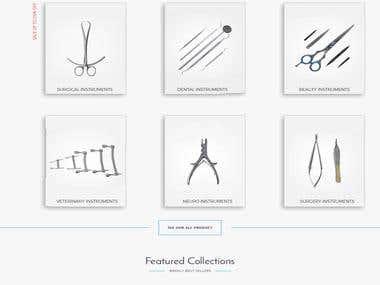 A Website For Surgucal Instruments