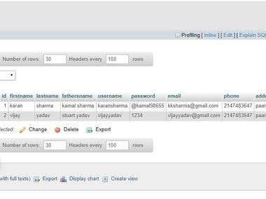 PHP database handling