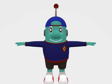 Cute Alien Model Character