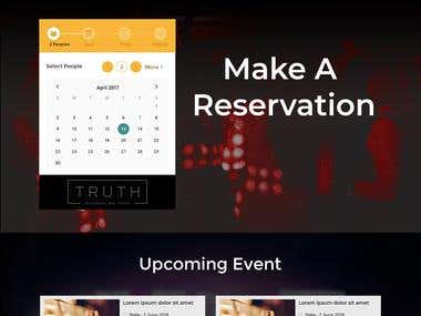Website for Resturant and Booking