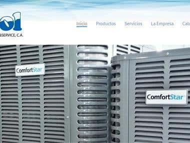 Home page for Venezuela company of Aires acondicionado
