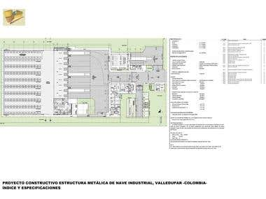 Construction design of steel structure warehouse