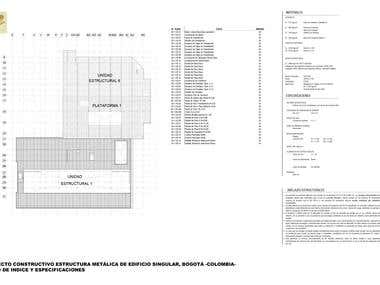 Construction design of singular steel structure building