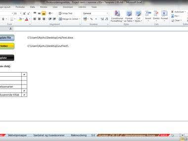 Filling and formatting Word documents from Excel