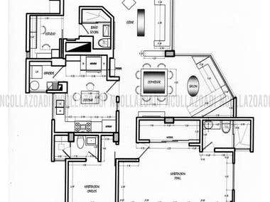ARCHITECTURE AND INTERIOR DESING PLAN Apartment