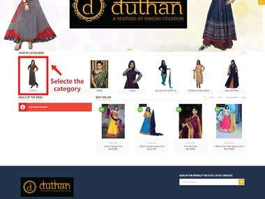 e-commerce portal for traditional indian clothes