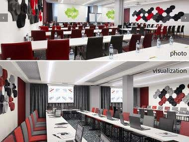 Hotel kids room, conference hall, fitt zone