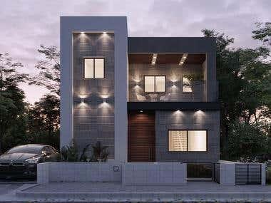 Villa Design and 3D Visualization