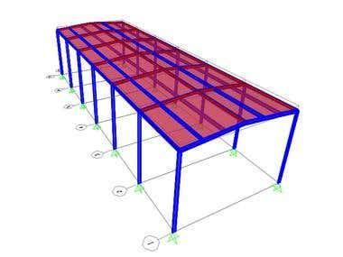 Steel Pitched Portal Frame