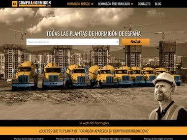 CompraHormigon website