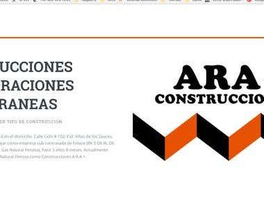 Diseño y montaje de página web