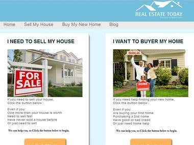 Real Estate Website design by using WordPress